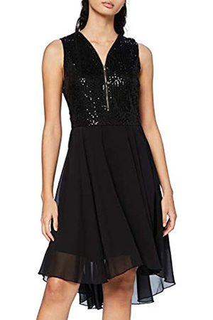 Mela Damen London-Sequin TOP Zip Detail HIGH Low Dress Lässiges Kleid