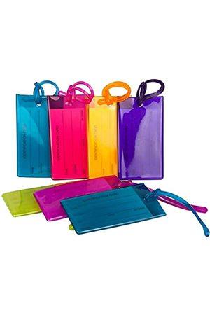 Travelmore Handtaschen - 7er-Pack Gepäckanhänger Kofferanhänger mit Adressschild, Silikon-Kofferanhänger Luggage Tag zur Identifizierung von Tasche