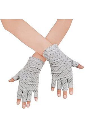 JISEN Fingerlose Handschuhe für Damen, UV-Schutz, zum Autofahren, Angeln