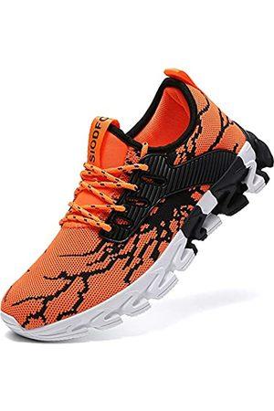 suke Sneakers für Herren Laufschuhe Athletic Tennis Walking Schuhe Mode Sneaker, Schwarz (A99 )