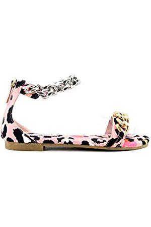 Cape Robbin Hayes Sandalen für Damen, Pantoletten, Pink (leopard)