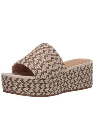 Lucky Brand Damen Espadrille Befanni Keilabsatz Sandale, Grau (Fossilisiert/Cinder)