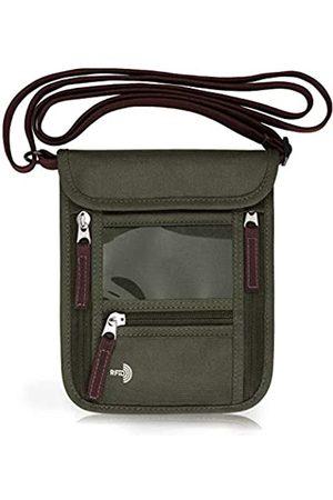 WALNEW Reisepass Halstasche Travel Neck Wallet mit RFID-Blockierung - 7 Taschen mit verstellbarem Umhängeband zur sicheren Aufbewahrung Ihres Reisepassdokuments und Ihrer Kreditkarte