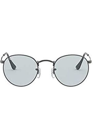 Ray-Ban Herren Round Metal Sonnenbrille, Ruthenium/Hellblau
