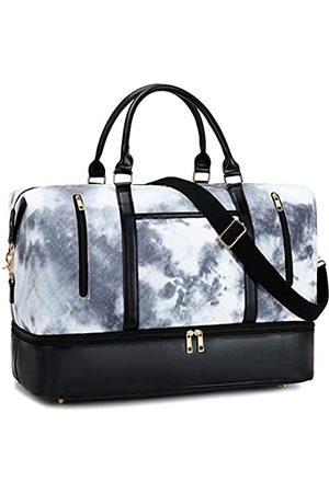 CAMTOP Weekend Reisetasche Damen Frauen Duffle Tote Taschen PU Leder Trim Canvas Übernachtung Tasche Gepäck