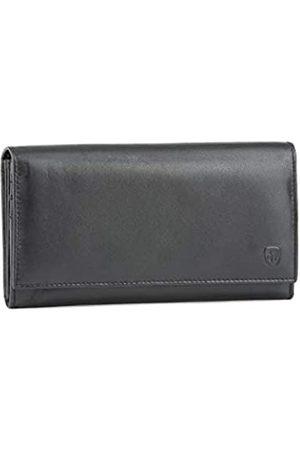 DVS Damenbrieftasche aus Nappaleder mit Faltfächern und internem Reißverschluss von