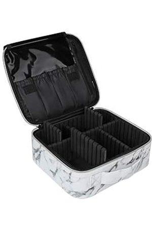 Relavel Make-up-Tasche, Make-up-Organizer und Aufbewahrungskosmetik-Reisetasche für professionelle Make-up-Pinsel, Aufbewahrungsbox für Make-up, Zug-Koffer für Frauen