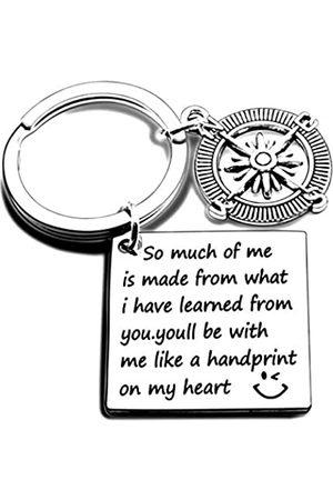 """Isiyu Schlüsselanhänger für Lehrer, Geschenk für Damen und Herren, mit Aufschrift """"So Much of Me is Made of What I Learned from You"""", Geburtstag, Schmuck, Abschluss, Valentinstag"""