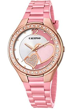 Calypso Damen Analog Quartz Uhr mit Plastik Armband K5679/M
