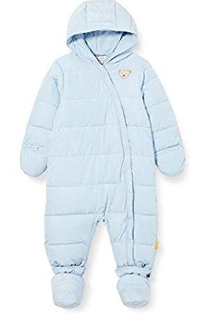 Steiff Baby-Unisex mit süßer Teddybärapplikation Schneeanzug, Baby Blue
