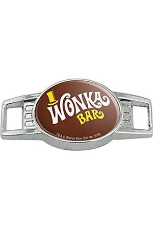 GRAPHICS & MORE Willy Wonka and the Chocolate Factory Wonka Bar Logo Schnürsenkel Schnürsenkel Anhänger Gym Charm Dekoration
