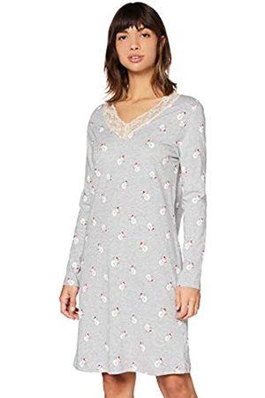 IRIS & LILLY Amazon-Marke: Damen Nachthemd aus Baumwolle, (Grey Snowman), S