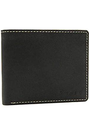 Shaik Kreditkartenetui Herren und Damen Ledergeldbörse aus echtem Leder mit Edelstahl Clip Funktion Querformat Portemonnaie (