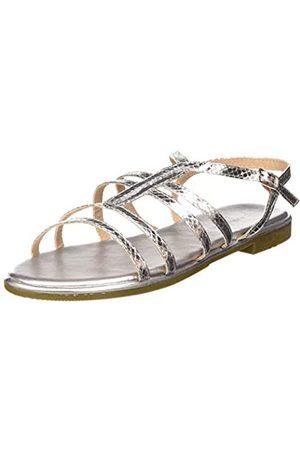 Maria Mare Damen 67746 Peeptoe Sandalen, (Serpiente Metal Silver/Silver/Silver C49652)