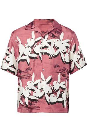 Amiri X Playboy Bunny-print Silk Short-sleeved Shirt