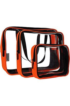 Micom 3 Stück transparente Kulturbeutel – Transparente Verpackung Würfel Set – Transparente Reise Organizer Tasche – Perfekt für Toilettenartikel, kleine Kleidung