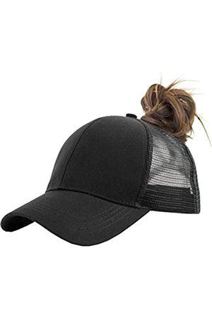 IZUS Solide Pferdeschwanzmütze Baseballkappe Baumwolle Mesh High Bun Pony Cap Damen - - Einheitsgröße