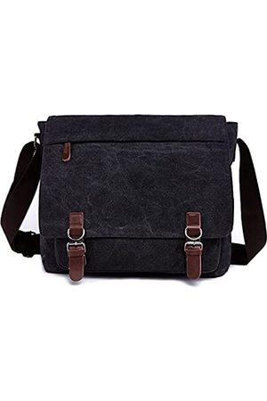 Mactso Canvas Messenger Bag für Männer und Frauen, Reise-Umhängetasche, Schultertasche 15