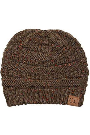 Funky JL Damen Hüte - Funky JUNQUE's CC Confetti Knit Beanie - Thick Soft Warm Winter Hat - Unisex