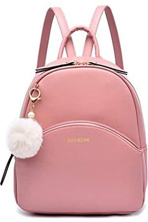 Barsine Damen Damen Mini Rucksack Geldbörse aus veganem Leder mit mehreren Reißverschlusstaschen