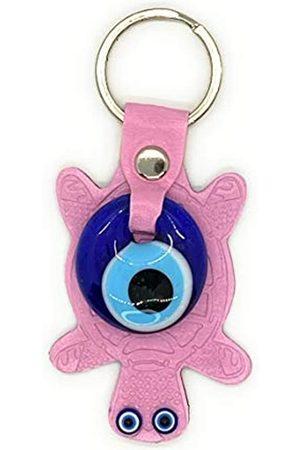 Nazar Schlüsselanhänger mit Schildkrötenmotiv, blaues Evil Eye, , Leder, Segen, religiöses Charm