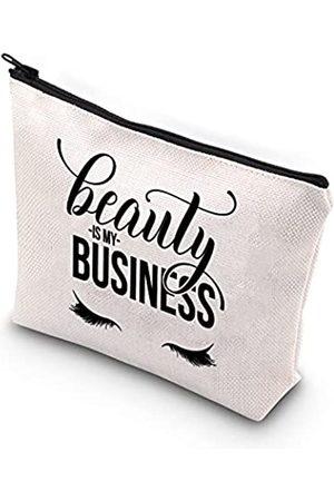 Generic Beauty is my business Kosmetiktasche für Wimpernmädchen, Lashboss, Wimpern, Künstler, Reißverschluss, Make-up-Tasche, Geschenk für Kosmetikerin, Schönheitskünstler, Friseur, Kosmetik