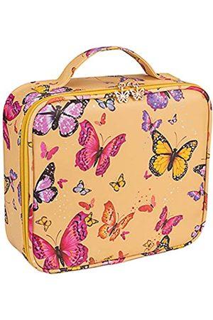 Soumeanz Vintage Reise-Kosmetiktasche aus Leder mit verstellbaren Trennwänden, Kosmetiktaschen für Damen