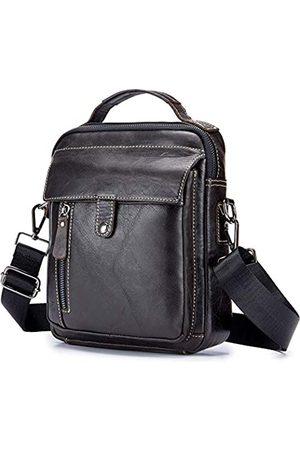 BAGZY Leder Herren Umhängetasche Männer Schultertasche Businesstasche Sling Handtasche Reisepass Cross Body Tasche Messenger Bag Arbeitstasche