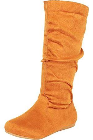 Cambridge Select Flache Damen-Stiefel, klassisch runde Spitze, Slouch, (Tan Imsu)