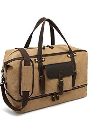CAMTOP Weekender Reisetasche, Segeltuch, echtes Leder