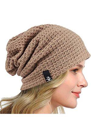 HISSHE Damenmütze, Schlapp-Beanie, gestrikte Baskenmütze, Winter, Sommer Kopfbedeckung