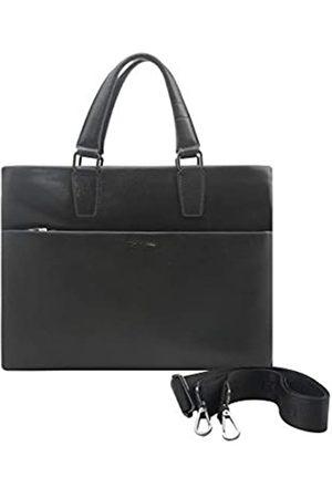 Giorgio Ferretti Bequeme Leder-Laptophandtasche für Herren Leder Computer Aktentasche für Laptops