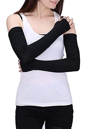 HDE Damen Fingerlose lange Handschuhe Daumenloch Armwärmer Ärmel Ellenbogenlänge - - Einheitsgröße