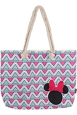 Cerdá Unisex-Kinder 2100002927 Minnie Mouse Strandtasche-100% Baumwolle