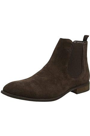 New Look Herren Classic Chelsea Boots, (Dark Brown)
