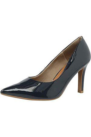USAFLEX Damen Kleid Pumps, Stilvoll und Bequem 3.5 Zoll Heels für Frauen, (New Blue)