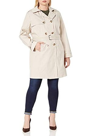 ELIE TAHARI Women's Plus-Size Laurie Double Breasted Trench Coat with Lace Detail