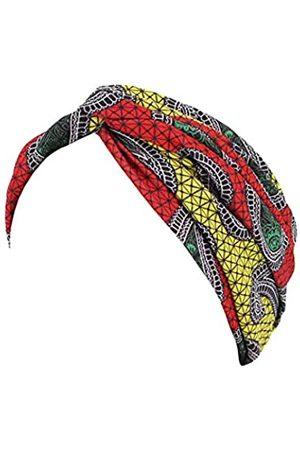Surkat Damen Caps - Frauen Plissee Twist Turban afrikanischer Druck Indien Chemo Cap Hairwrap Kopfbedeckung - - Einheitsgröße