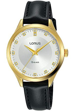 Lorus Klassik Damen-Uhr Edelstahl mit Lederband RG202RX9