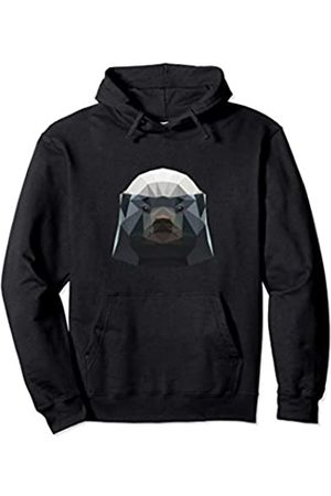 Wowsome! Cute Polygonal Honey Badger Lover Gifts Men Women Pullover Hoodie