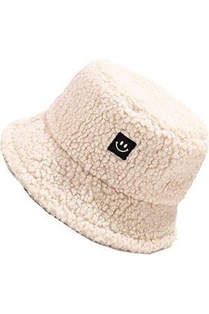 MaxNova Damen Fischerhüte im Teddy-Stil, Vintage-Stil, Glockenhut aus warmem Kunstfell