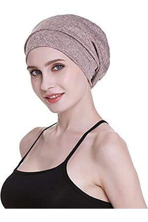 FocusCare Damen satin gefüttert schlaf slouchy cap curly slap kopfbedeckung geschenke für kraus haar eine größe passt meistens mixed