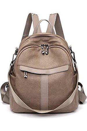 Himunu Damen-Rucksack, Geldbörse, gewaschenes Leder, wandelbar, mit Reißverschluss