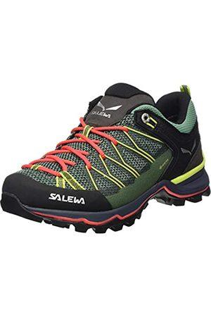 Salewa Damen WS Mountain Trainer Lite Gore-TEX Trekking-& Wanderstiefel, Feld Green/Fluo Coral