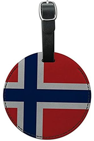 Graphics and More Graphics & More Norwegen Nationalflagge rund Leder Gepäck ID Tag Koffer Handgepäck - Leather.Tag.Round.20189