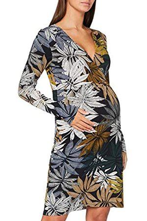 Noppies Damen Dress nurs ls AOP Bideford Kleid, Black-P090