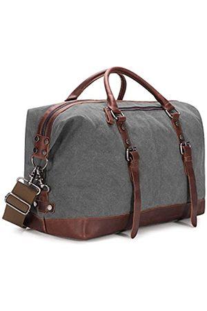 Baosha Reisetasche aus Segeltuch und PU-Leder (Weiß) - BSHBC14