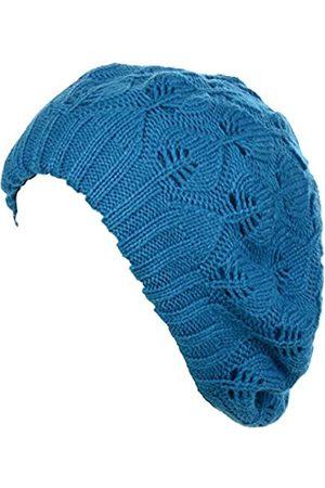 Be Your Own Style BYOS Damen Baskenmütze, mittelschwer, lässig, mit Blättern, Cutout, gehäkelt, weich