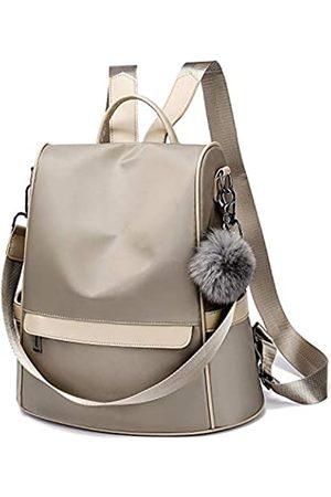 Cheruty Damen Rucksack Geldbörse Nylon Anti-Diebstahl Mode Casual Leicht Reise Schule Schultertasche, (Khaki Large)