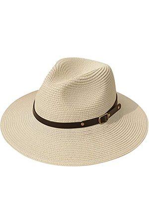 Lanzom Damen Hüte - Damen Strohhut mit breiter Krempe, zum Aufrollen, Fedora
